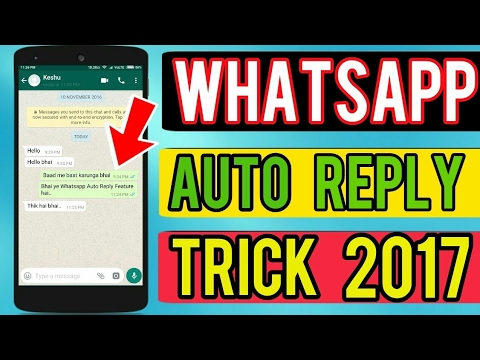 How To Whatsapp Auto Reply......