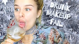 Drunk (BLACKED OUT)  - What NOT to Do | Makeup Tutorial Fail