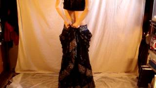 Belly Dance Skirt wrapping demo tip #2