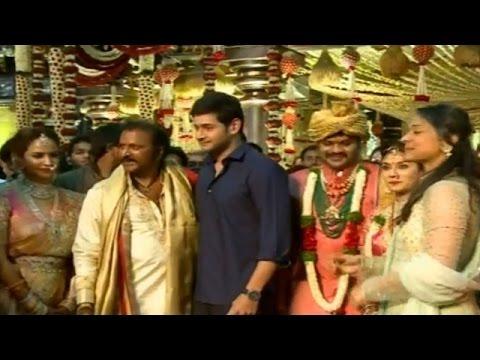 Mahesh Babu with Mohan Babu at Manchu Manoj Marriage Ceremony | Manchu Vishnu | Manchu Lakshmi