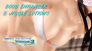 Dead Or Alive Xtreme 3: New Boob Enhancer & Jiggle Lotions (In Action!)