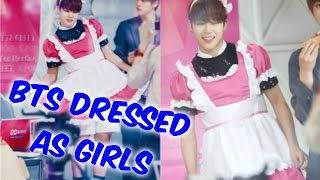 BTS Dressed as Girls Compilation
