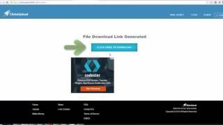 How to download from ClicknUpload - طريقة التحميل من موقع