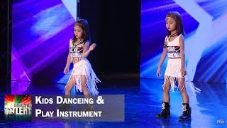 Kids dancing and playing instrument || Myanmar