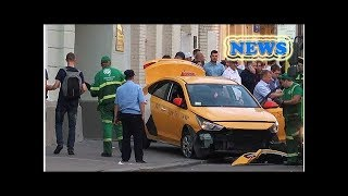 News Taxi plows into Moscow crowd including soccer fans, injuring seven