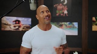 EXCLUSIVE: Watch Dwayne Johnson Record Music With Lin-Manuel Miranda for 'Moana'