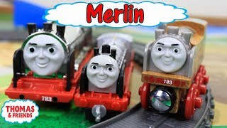 THOMAS AND FRIENDS The Great Race! Thomas Real Wood Merlin Unboxing|Thomas & Friends Toy Trains