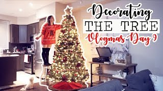 FINALLY DECORATING MY CHRISTMAS TREE! || Vlogmas Day 9
