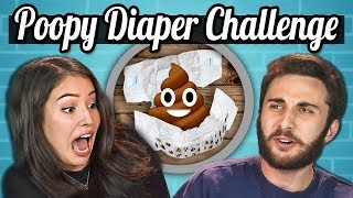 TEENS vs. FOOD - THE POOPY DIAPER CHALLENGE?! REALLY?!
