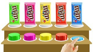 Wooden Toys - m&m Chocolate Colors Learn | Finger Family Song