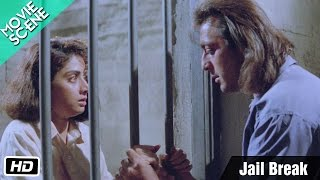 Jail Break - Movie Scene - Gumrah - Sanjay Dutt, Sridevi, Anupam Kher