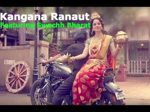 Kangana Ranaut [Goddess Laxmi] Swachh Bharat with Amitabh Bachhan