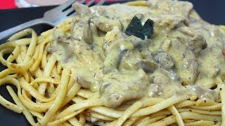 CHICKEN STROGANOFF WITH NOODLES *COOK WITH FAIZA*