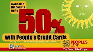 Up to 50% Discounts with People's Credit Cards