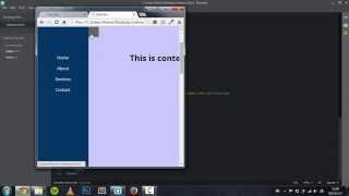 Side or Vertical Navigation bar tutorial || HTML, CSS, jQuery