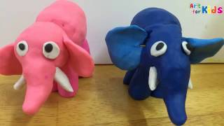 Clay art for kids | How to make a clay elephant 2 | Clay animals | Art for kids