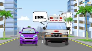 Toddler Channel : Ambulance Car Rescue in the City - Educational Learning Videos for Kids
