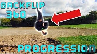 Backflip 360 Progression! ( 3 DAYS )