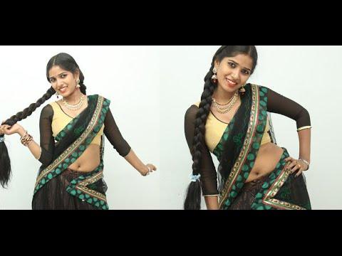 Tamil Item Song Actress Black Hot Saree Nave! Show | Tamil Hot Short Film Actress