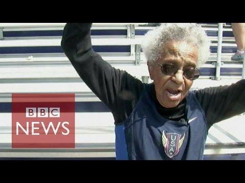 99 year old Ida Keeling sprints to 100m 'world record' - BBC News