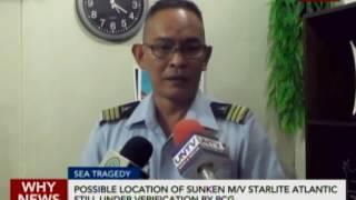 Possible location of sunken M/V Starlite Atlantic still under verification by PCG