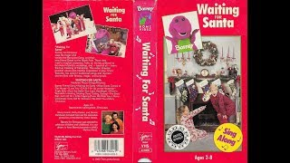 Barney and the Backyard Gang - Waiting for Santa (1990) [1993, VHS] (red cover edition)
