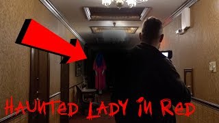 HAUNTED LADY IN RED AT 3AM - GHOST APPEARS! | OmarGoshTV