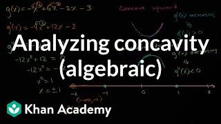 Analyzing concavity (algebraic) | AP Calculus AB | Khan Academy