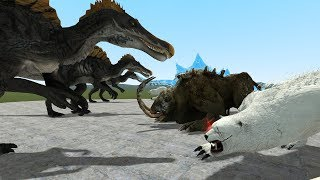 BEAR BROTHERS VS SPINOSAURS - GMOD FIGHTS