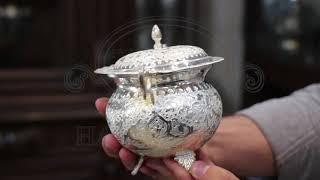 Persian Handicraft   Iranian Hand Engraving Ghalamzani on Silver 13