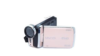 Minolta 1080p Full HD Digital Camcorder w/Carrying Case