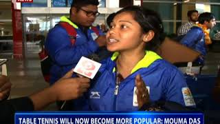 CWG 2018 Table Tennis: Gold medalist Mouma Das speaks to DD News