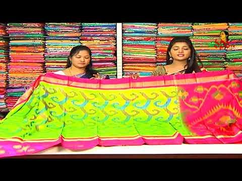 Xxx Mp4 Green Yellow Color Ikkat Pattu Saree With Designer Blouse New Arrivals Vanitha TV 3gp Sex