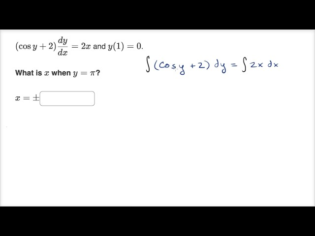 Using particular solution to separable differential equation