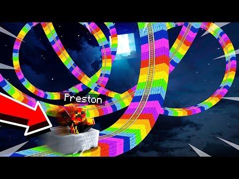 LONGEST MINECRAFT RAINBOW Roller Coaster Challenge MCPE