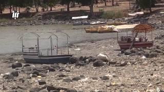 كيف بدت بحيرة المزيريب بدرعا بعد أن جفت مياهها بسبب تصرفات المزارعين الجائرة