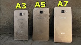 Samsung Galaxy A7 vs A5 vs A3 (2016) - Drop Test (4K)