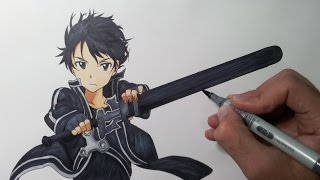 Drawing Kirito - Sword Art Online