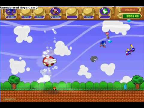 Insaniquarium mario and sonic mod