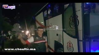 لحظة وصول فريف الفتح الرباطي إلى المغرب بعد تأهله على حساب الصفاقصي التونسي