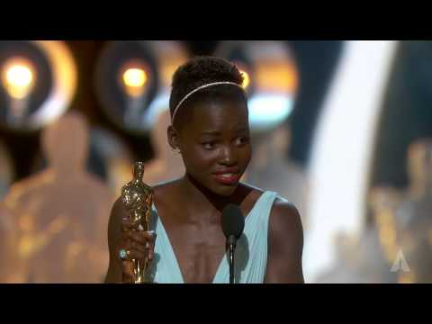 Lupita Nyong'o winning Best Supporting Actress