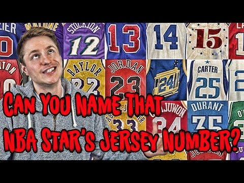 Can YOU Name That NBA STAR's Jersey Number?!?