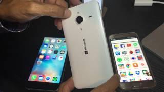 COMPARACION SAMSUNG S6 VS iPHONE 6 PLUS VS LUMIA 640 XL
