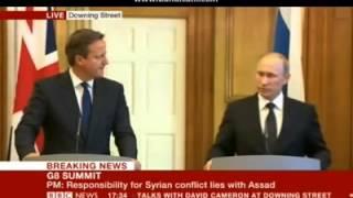 London 2013, Putin warns West not to arm rebels(ISIS/Al-Nusra) who 'eat the organs' of their enemies