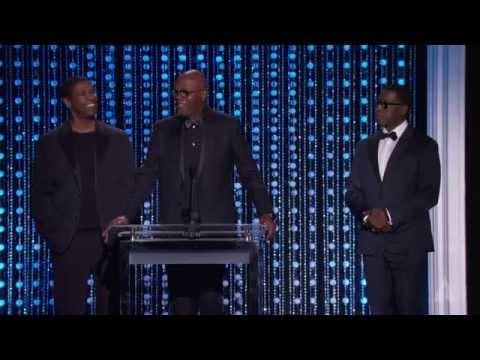 Samuel L. Jackson Denzel Washington and Wesley Snipes honor Spike Lee at the 2015 Governors Awards