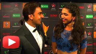 Deepika Padukone, Ranveer Singh Arrive Together At Star Guild Awards 2014