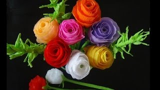 How to make paper flowers- Rose bouquet for Mother's day