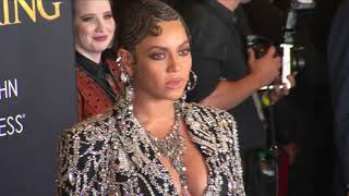 Beyonce Arrival and Donald Glover Interview at The Lion King Premiere