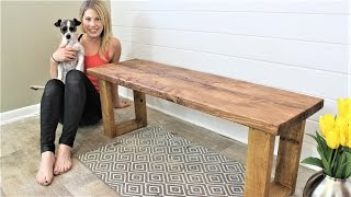 The $15 Fifteen Minute Bench - Easy DIY Project