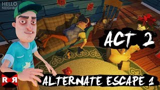 Hello Neighbor - ACT 2 Alternate Escape (Trampoline) -  iOS / Android Walkthrough Gameplay